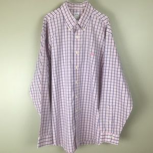 Brooks Brother Men's Casual pink/blue Shirt (L)